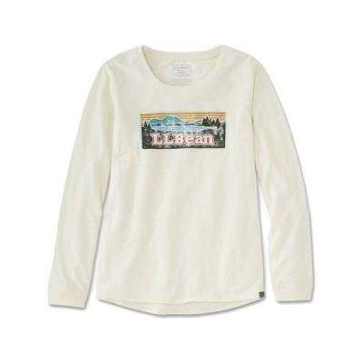 tシャツ Tシャツ ウィメンズ エル・エル・ビーン・キャンプ・ティ、長袖 グラフィック 米国フィット・レギュラー