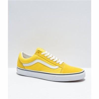 ヴァンズ VANS レディース スケートボード シューズ・靴 Vans Old Skool Cyber Yellow and White Skate Shoes Yellow