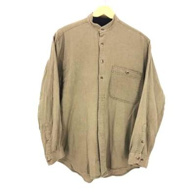 セントジョンズベイ STJOHNSBAY スタンドカラーワッフルシャツ メンズ S 中古 古着 210804