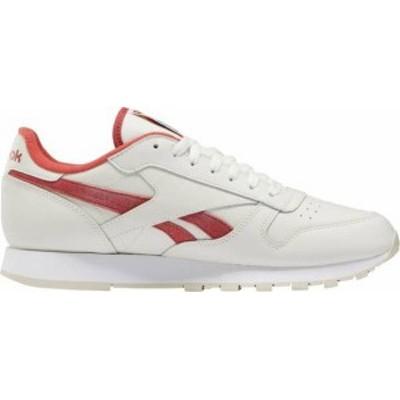 リーボック メンズ スニーカー シューズ Reebok Men's CL Leather Shoes White/Red