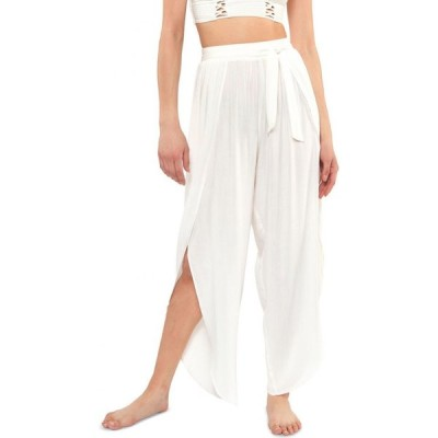 ジェシカシンプソン Jessica Simpson レディース ビーチウェア ボトムス・パンツ 水着・ビーチウェア Solid Tie-Waist Cover-Up Beach Pants White