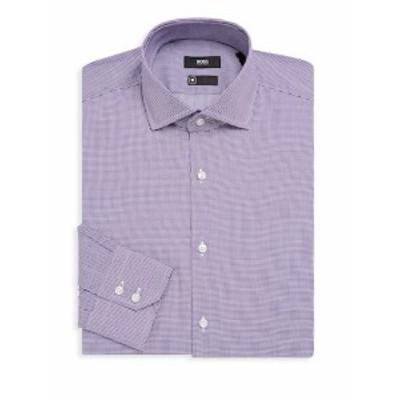 ボスヒューゴボス メンズ ドレスシャツ ワイシャツ Gordon Gingham Cotton Dress Shirt