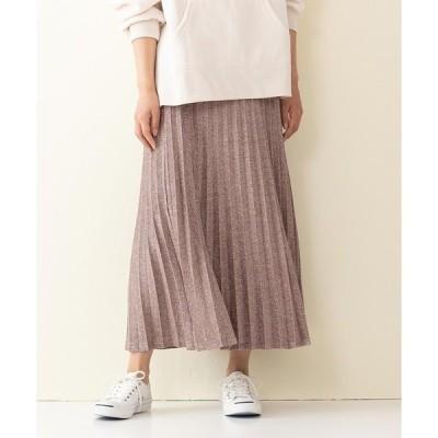 スカート 【innocent blue/イノセントブルー】ラメプリーツスカート  ラメ入りカットソー素材 ウエストバックゴム仕様