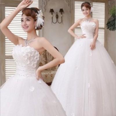 激安 韓国 ウエディングドレス 撮影 ワンピース 二次会 ロングドレス ホワイト白 結婚式 パーティードレス 演奏会 発表会 着痩せ