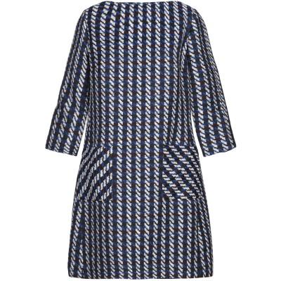 NATAN ミニワンピース&ドレス ブルー 44 ポリエステル 43% / アクリル 24% / コットン 23% / ウール 10% ミニワンピー