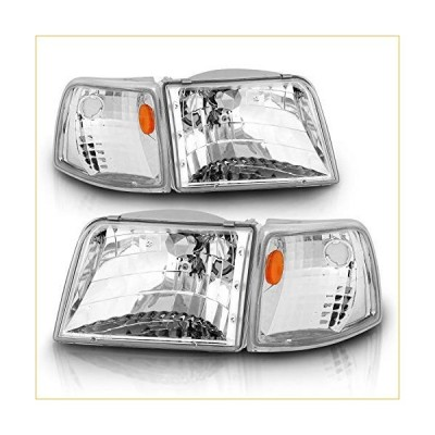 AmeriLite Replacement Headlights and Corner Set for 93-97 Ford Ranger - Passenger and Driver Side 並行輸入品