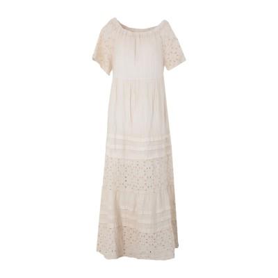 120% ロングワンピース&ドレス ベージュ 38 リネン 100% ロングワンピース&ドレス
