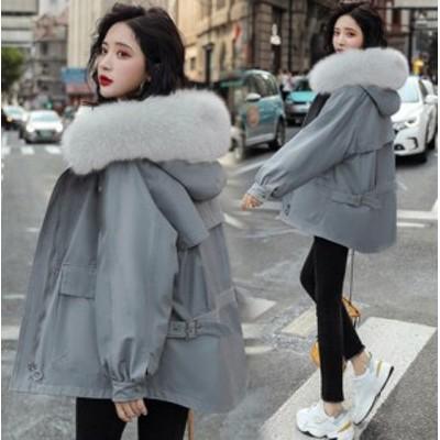 中綿コート アウター ダウンコート ダウンジャケット 防寒 保温 カジュアル レディース フェイクファー付き フード付き