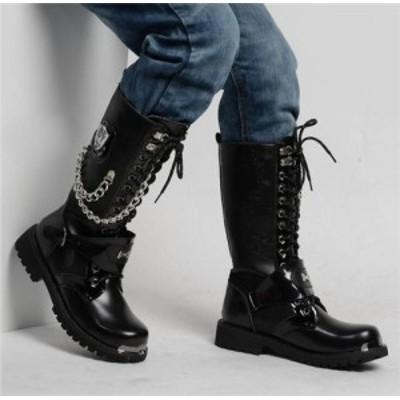 エンジニアブーツ ワークブーツ 靴 メンズ ウエスタンブーツ リベットイギリス風 紳士