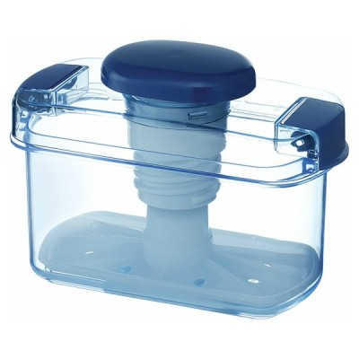 即席漬物容器 角型 840ml ハイペット ミニレシピ付 日本製 簡易 漬物容器 リス S-10 クリアブルー