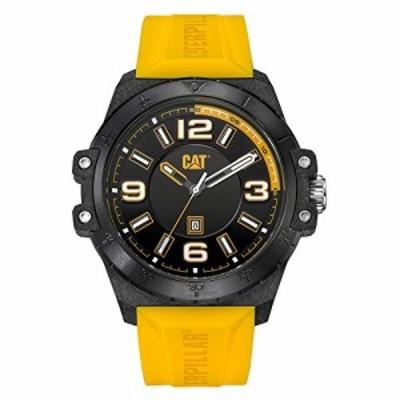 腕時計 キャタピラー メンズ CAT Nomad Yellow/Black Men Watch, 46.5 mm case, Black face, Date Displa