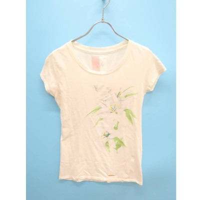 Rady(レディー)リリーフラワーTシャツ 半袖 白/緑 レディース A-ランク F