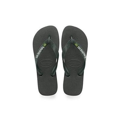 Havaianas メンズ ブラジルロゴ ビーチサンダル US サイズ: 9-10 カラー: グリーン