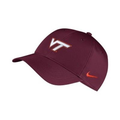 ナイキ メンズ 帽子 アクセサリー Virginia Tech Hokies Dri-Fit Adjustable Cap Maroon