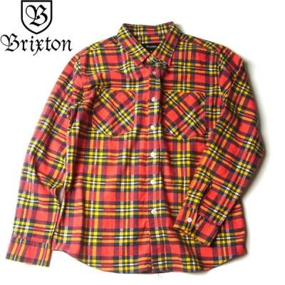 送料無料 BRIXTON ブリクストン 01086 BENNETT FLANNEL SHIRTS ベネット フランネル シャツ ネルシャツ 長袖 レッド/ゴールドメンズ レディース