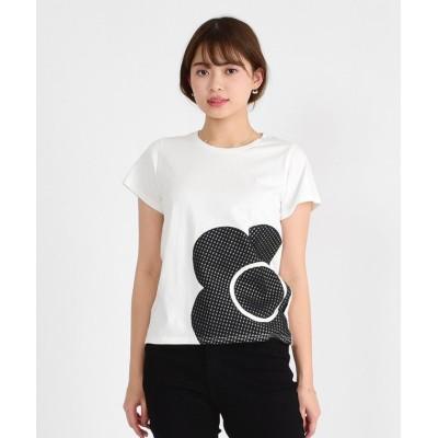 【マリークヮント】 BIGデイジーアップリケ Tシャツ レディース ホワイト M MARY QUANT
