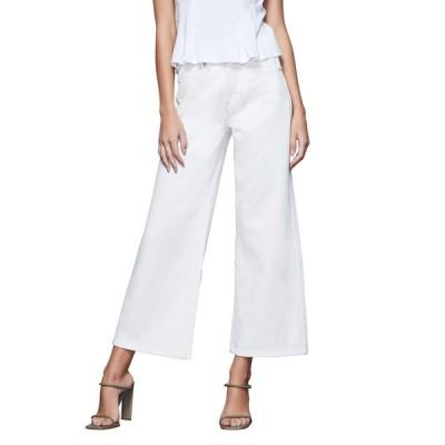 グッドアメリカン レディース デニムパンツ ボトムス Palazzo Wide-Leg Cropped Jeans
