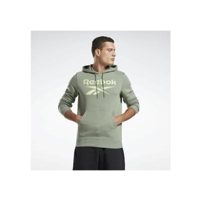 リーボック パーカー・スウェットシャツ メンズ アウター VECTOR BIG LOGO GRAPHIC SWEATSHIRT - Hoodie - green