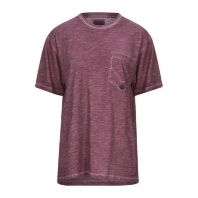 RO ROGER'S Tシャツ  レディースファッション  トップス  Tシャツ、カットソー  半袖 ボルドー