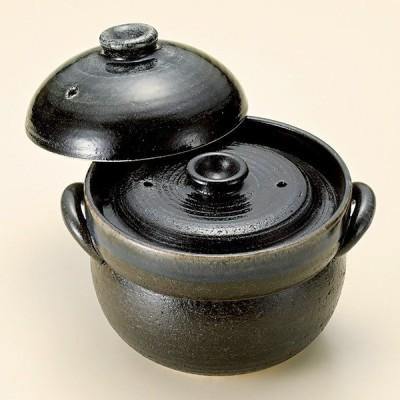 和食器 瑠璃色ブルー釉 ご飯鍋4合炊 中蓋付 萬古焼 土鍋 直火 耐熱 おうち ごはん おしゃれ プレゼント 陶器 うつわ