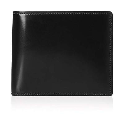 プレリー 二つ折り財布(小銭入れなし) ナチュラルグレージングコードバン プレリーギンザ クロ
