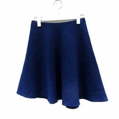 【中古】デプレ DES PRES トゥモローランド スカート フレア ミニ 0 青 ブルー /YI21 レディース