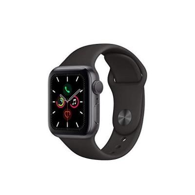 Apple Watch シリーズ5 (GPS 44mm) - スペースグレー アルミニウムケース ブラックスポーツバンド付き (更新)