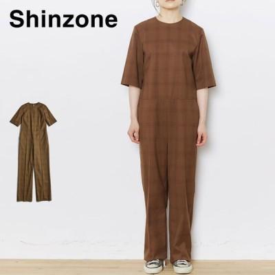 Shinzone シンゾーン チェックオールインワン レディース トップス ボトムス