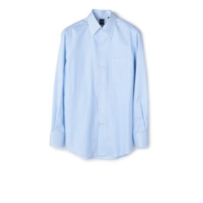 SD: 【MONTI社製生地】カラミ イタリアンボタンダウンシャツ(ライトブルー)