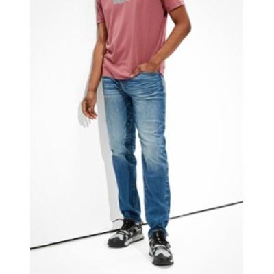 アメリカンイーグル メンズ デニムパンツ ボトムス AE AirFlex+ Move-Free Athletic Fit Jean Blue Street