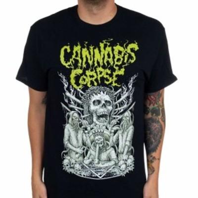 カンナビス コープズ Cannabis Corpse メンズ Tシャツ トップス Knights Of The Bong Table Black