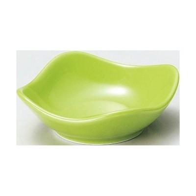 【珍味&小付セレクション スクエア波小皿(小) 緑 】 幅7.8×高さ2.6(mm)【業務用】