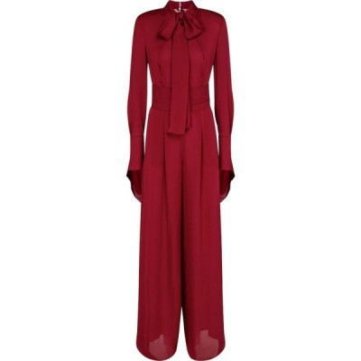 ローラン ムレ Roland Mouret レディース オールインワン ジャンプスーツ ワンピース・ドレス sinnott silk georgette jumpsuit Crimson