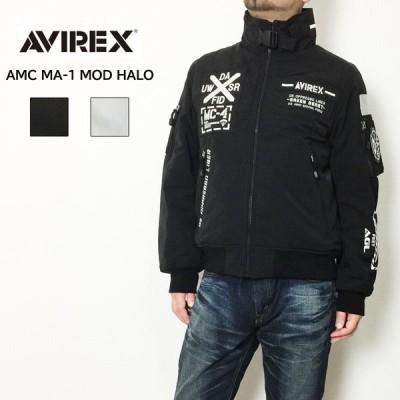 AVIREX アビレックス AMC MA-1 MOD HALO ジャケット モデファイ ハロ  ミリタリージャケット ブラック ホワイト 6192176