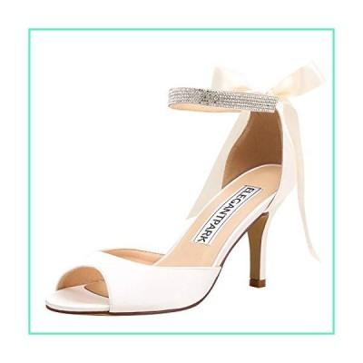 ElegantPark Women Peep Toe High Heel Sandals Bridal Wedding Shoes for Bride Ankle Strap Ivory US 7並行輸入品