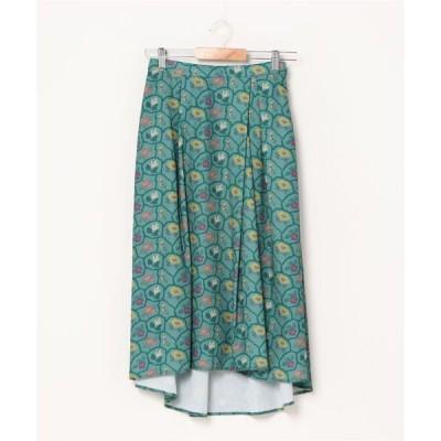 スカート Como bordado フラワープリントスカート