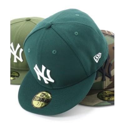 帽子屋ONSPOTZ / ニューエラ キャップ ニューヨークヤンキース 59FIFTY MLB  NEWERA CAP NEW YORK YANKEES MEN 帽子 > キャップ