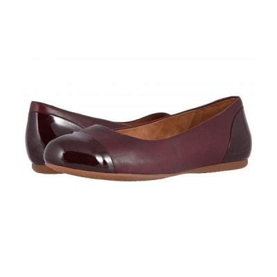 SoftWalk ソフトウォーク レディース 女性用 シューズ 靴 フラット Sonoma Cap Toe - Dark Red Soft Napa/Patent