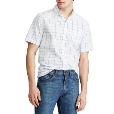チャップス メンズ シャツ トップス Performance Short Sleeve Easy Care Button Down Shirt