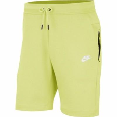ナイキ メンズ テックフリース Nike Tech Fleece Shorts ハーフパンツ Limelight/White