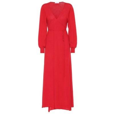 ライアンロッシュ Ryan Roche レディース ワンピース ミドル丈 ワンピース・ドレス cashmere midi dress Red
