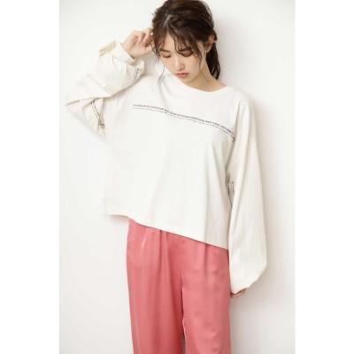 ◆袖口ロゴボックスTシャツ オフホワイト