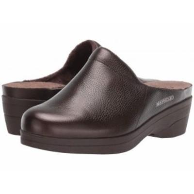Mephisto メフィスト レディース 女性用 シューズ 靴 クロッグ ミュール Satty Bronze Ceylan【送料無料】