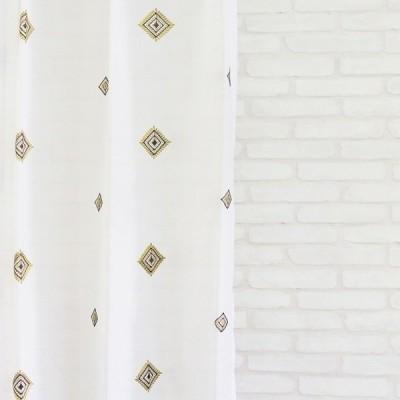 オーダーカーテン【幅〜100cm×高〜200cm×1枚】エスニック風レースカーテン。アジアン家具が似合うオシャレな空間。洗濯可