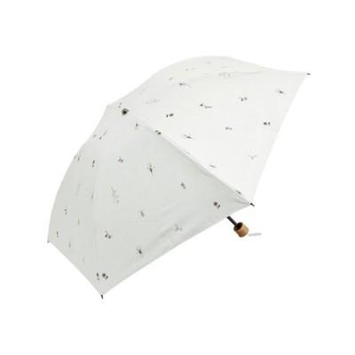 LAURA ASHLEY(ローラアシュレイ) Umbrella short Pressed flower white 晴雨兼用 折りたたみ傘 遮光率99.9%