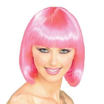 スーパーモデル ウィッグ、かつら ピンク 女性用【ハロウィン:ウィッグ_hw16_mk05】
