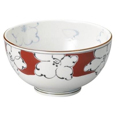 和食器 多用丼 / 赤絵濃花軽量5.0多用碗 寸法: 15.7 x 8.5cm 373g