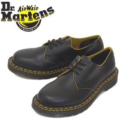 Dr.Martens (ドクターマーチン) 26101032 1461 DOUBLE STITCH 3EYE ダブルステッチ レザーシューズ BLACK/YELLOW