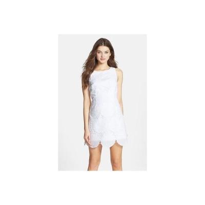 ワンピース リリーピュリッツァー Lilly Pulitzer Delia Jumbo Eyelet White Seashell Shift DRESS 6