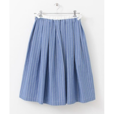 【アーバンリサーチドアーズ】 Scye Cotton linen Striped Skirt レディース SKYBLUE 38 URBAN RESEARCH DOORS